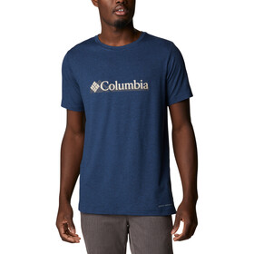 Columbia Tech Trail Graphic Tee Men collegiate navy branded